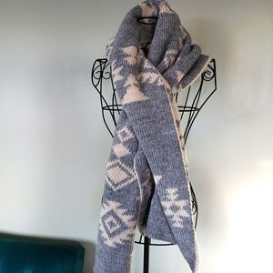 Beautiful wool blend wide thick scarf